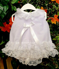 DREAM 0-5 YEARS baby girls summer white angel top frilly pants  reborn dolls