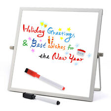 Dry Erase White board Desktop Mini Easel Reversible Notepad For Office Home Kids
