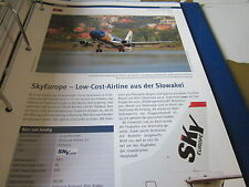 Airlines Archiv Slowakei Skyeurope Airlines LowCost 4S