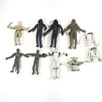 Vintage 1993 Bendable Star Wars Figure Lot Of 10 Chewbacca Yoda R2D2 (READ)