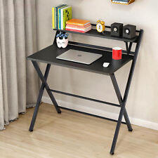 Foldable Computer Desk Folding Laptop PC Table Home Office Study Furniture Black
