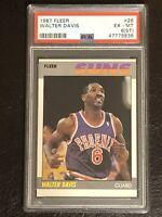 1987 Fleer Basketball Walter Davis Card #26 PSA 6 (ST) Phoenix Suns