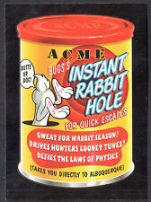WACKY PACKAGES 50th ANNIV Topps 2017 RED LUDLOW BACK CARD ACME Rabbit Hole 25/25