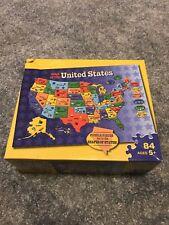 Milton Bradley 86 Piece United States Puzzle & World Map. LNC Ages 5+