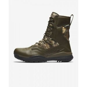 """Nike SFB Field 2 8"""" REALTREE BROWN CAMO AQ1203-200 HUNTING BOOTS TACTICAL 10.5"""