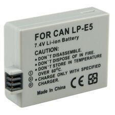 LP-E5 Battery 2000mAh for Canon EOS Rebel XS T1i 450D