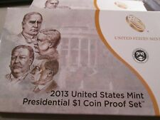 2013-S Us Presidential $1 Proof Set 4 Coin Set 1311
