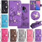 Diamond Bling Leather Pattern Wallet Case Cover For Samsung Galaxy S9/S10/Note10