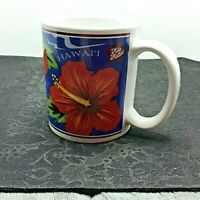 Vintage Hilo Hattie's Collection Hawaii Red Hibiscus Floral Mug New in Box 1997