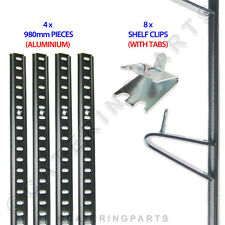 Frigorifero Scaffalatura Kit 4 x Lunghezze Alluminio Pilastro Rail 980mm+8