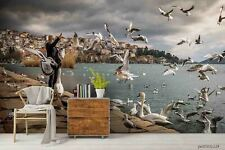 New Listing3D Sea City Seagull Wallpaper Wall Murals Removable Wallpaper 266