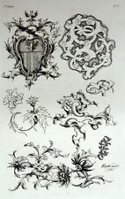 Decoration ornament Floral Coat of arms architecture engraving Riester Clerget