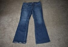 American Eagle Womens AEO Artist Stretch Blue Denim Jeans Size 14 Regular