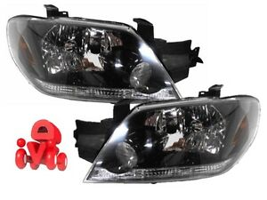 FRONT HEADLIGHT LAMP LEFT and RIGHT SET for MITSUBISHI OUTLANDER 2002 - 2005