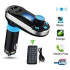 Bluetooth FM Transmitter For Car Radio MP3 Player Adapter Kit USB Charger Plug