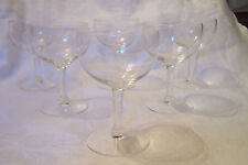 Vintage Clear Champagne/Wine Glasses - Set of 6 Matching Glasses