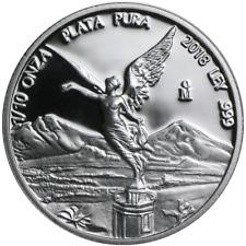 2018 Proof Silver Mexican Libertad Onza 1/10 oz in Cap
