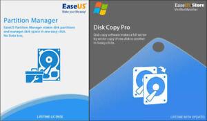 EaseUS Partition Master 15.8 + Disk Copy 3.8 - Lifetime Upgrades