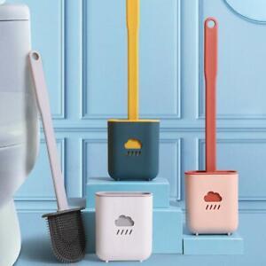 Silicone Flex Toilet Brush And Holder Creative Cleaning Brush Set 2021 US