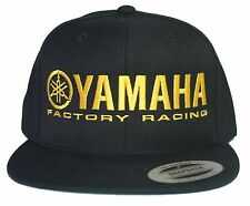 YAMAHA FACTORY RACING hat cap flat bill snapback black yellow MX YZ YFZ RI R6