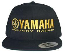 YAMAHA FACTORY RACING hat cap flat bill snapback black yellow MX YZ YFZ RI R6