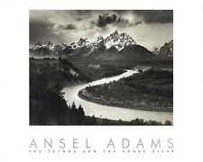 Ansel Adams Grand Teton National Park Snake River Wyoming Embossed Print Poster