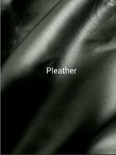 4 Way Stretch Fake leather (pleather) with Spandex - By the Yard - Black