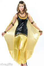 Girls/Ladies Black  Queen Cleopatra Costume - Great for Storybook Characters