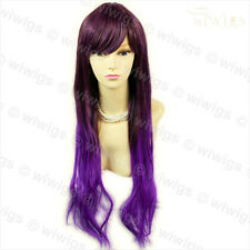 WIWIGS Long Straight violet mix Cosplay femmes perruque