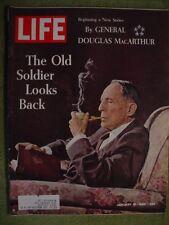 LIFE MAGAZINE JANUARY 10 1964  GENERAL DOUGLAS MACARTHUR YOGI BERRA JOHN GLENN