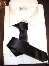 cravatta stretta vintage made in italy tie slim black cravattino nero lucido