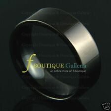 Pacific 8MM TUNGSTEN CARBIDE TUBE RING FLAT BAND BLACK