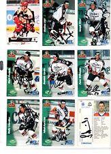 NHL/DEL Trading Cards---9 unterschriebene Cards der Hannover Scorpions