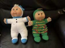 TWO Cabbage Patch 2007 Walmart Exclusive Holiday Kids (Snowman, Christmas Tree)