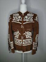 Vintage 1970s Faux Suede Western Fringe Jacket retro rockabilly cowgirl coat