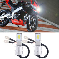 H3 Motorcycle LED Headlights Bulbs Kit High/Low Beam 35W 4000LM 6000K White