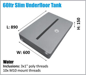 60LTR RV 4X4 SLIM UTE TRAY WATER OZ MADE ASK FREIGHT PRICE.