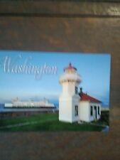Mukilteo Lighthouse Beautiful Post Card Washington State Ferries