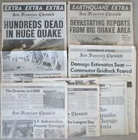 1989 Earthquake NEWSPAPER LOT x7 World Series SAN FRANCISCO CHRONICLE OCT 17 18+