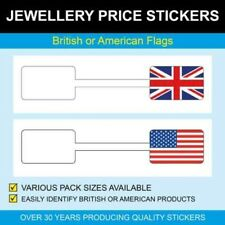 British or American Flag Jewellery Price Stickers