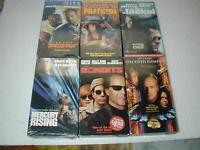 BRUCE WILLIS MOVIES 6 PACK VHS MOVIE LOT RARE OOP HTF