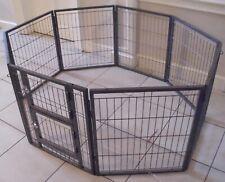 Margothedog Puppy Exercise Pen Modular Dog Cage 6 panels & 1 door