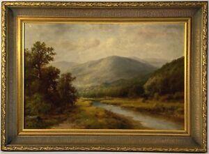 Thomas Bartholomew Bailey Griffin (1858-1918) Signed Oil Painting On Canvas