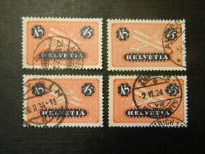 1923-25 Schweiz Suisse Poste aérienne / Luftpost Scott C8
