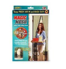 Rideau de porte magnétique Moustiquaire Magic Mesh - 213 X 91 cm - Marron