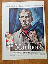 1959 Marlboro Cigarette Ad  Merchants Marine Seaman