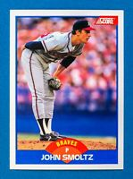 John Smoltz #616 (1989 Score) Rookie Card, Atlanta Braves, HOF