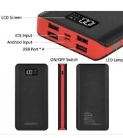 Kenruipu Power Bank 24000mAh Portable Charger Battery Pack 4 Output Ports