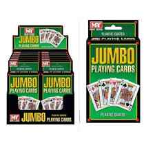 Jumbo plastic coated playing cards poker casino cheap great value quality cards