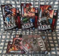 Transformers WFC Siege Battle Masters Soundwave Cassettes Ravage LaserBeak Lot